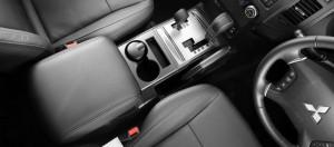 2012 Mitsubishi Pajero SWB interior gear stick