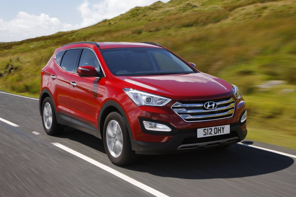 2013 Hyundai Santa Fe Exterior Front Right Dynamic