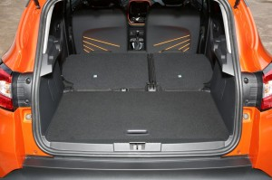 2013 Renault Captur interior boot rear seats folded