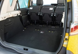 2013 Renault Scenic XMOD interior boot seats stored