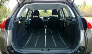 2013 Peugeot 2008 interior boot rear seats folded