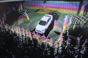 Ford stand MWC 2014 lidar demo