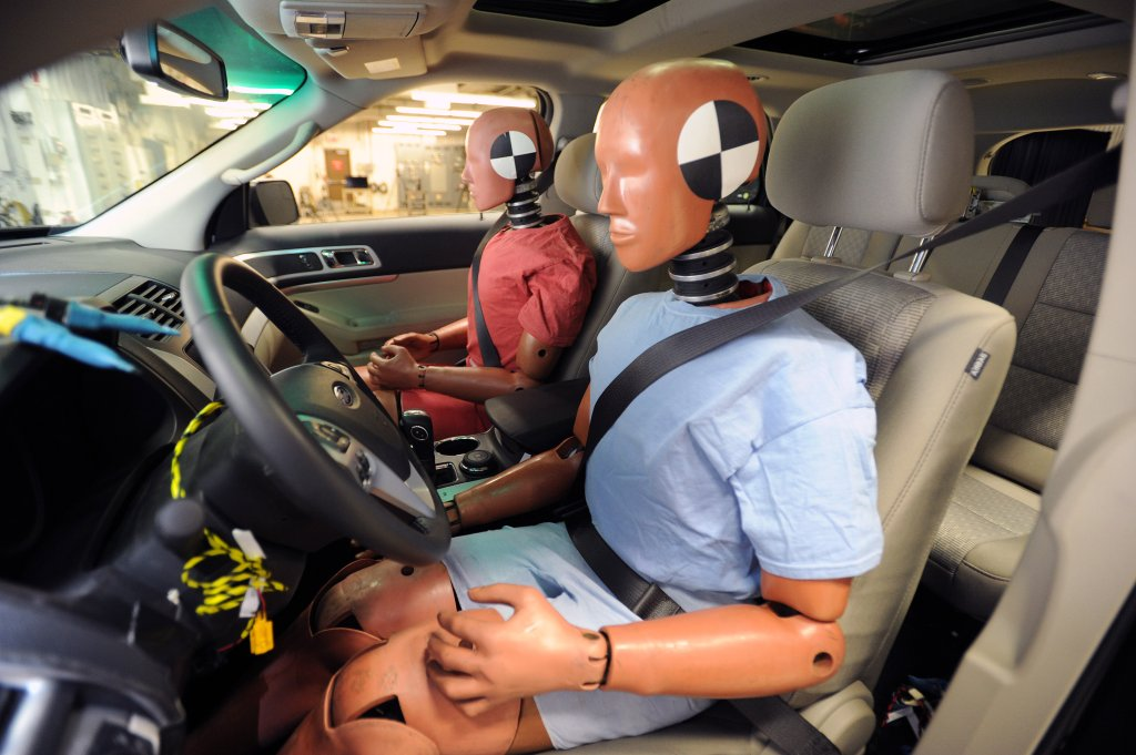 Ford safety test crash test dummies