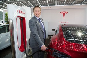 2014 Tesla Elon Musk First UK Supercharger