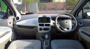 2014 Renault Zoe interior cockpit
