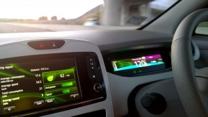 2014  Renault Zoe interior driving
