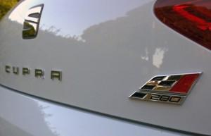 2014 Seat Leon Cupra 280 exterior rear badge