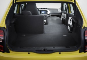 2014 Renault Twingo interior boot rear passenger seats folded