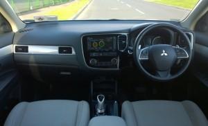 2014 Mitsubishi Outlander PHEV interior cockpit