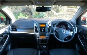 2014 SsangYong Korando interior cockpit