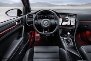 The Volkswagen Golf R Touch concept has a 12.8in main screen