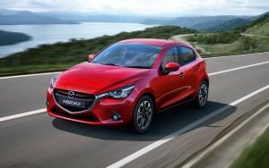 2015 Mazda Mazda2 exterior front left dynamic